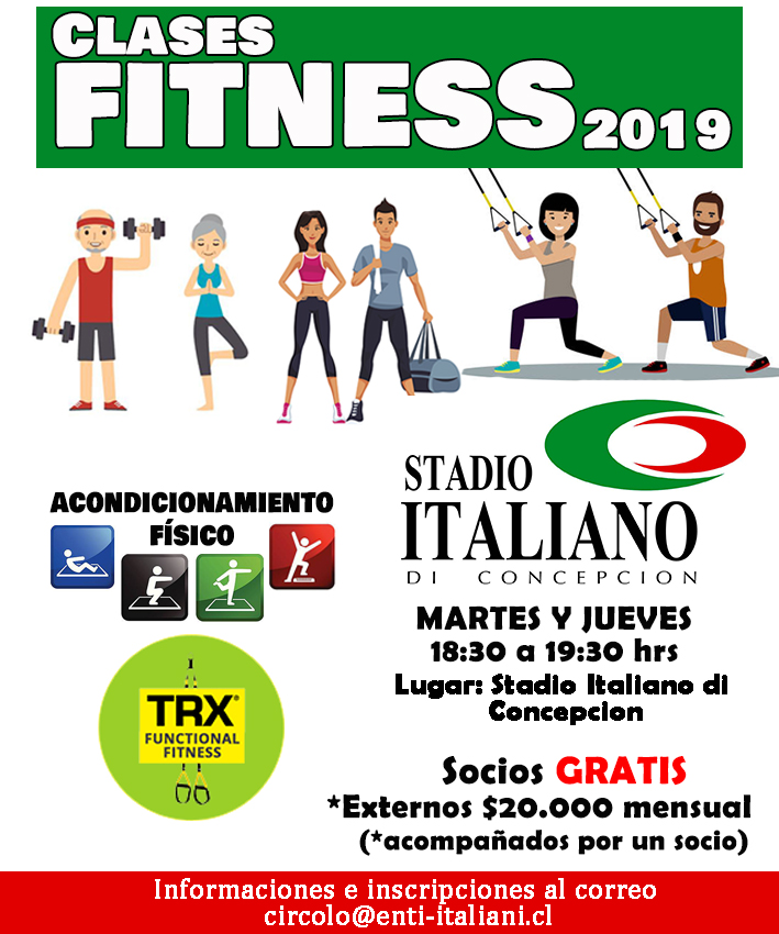 CLASES FITNESS 2019